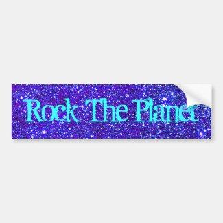 Stars Glitter Sparkle Universe Infinite Sparkly Bumper Sticker