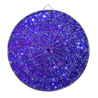 Stars Glitter Sparkle Universe Infinite Sparkly Dartboard With Darts