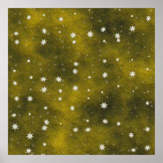 stars golden poster