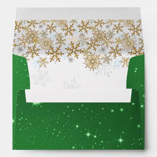 stars green christmas a7 envelopes zazzle com