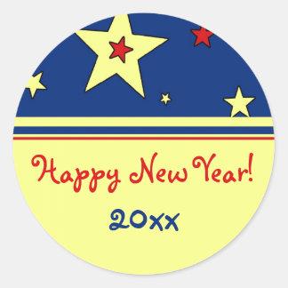 Stars Happy New Year Stickers