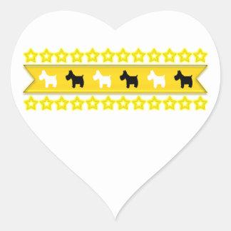 Stars Heart Sticker