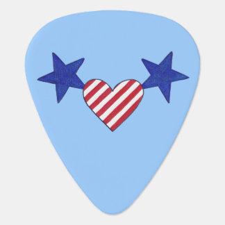 Stars heart stripes patriotic guitar picks pick