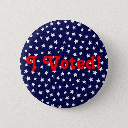 Stars -  I Voted! - Pin
