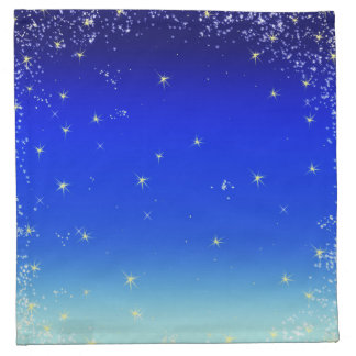 stars in blue napkin