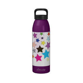 Stars in Bright Colours Liberty Water Bottle