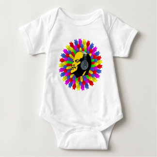 Stars in circle and Lénin Baby Bodysuit