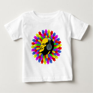 Stars in circle and Lénin Baby T-Shirt