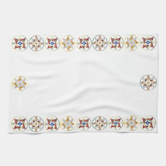 Stars in Circles Matching Set - Celtic Knots - 2 Hand Towel
