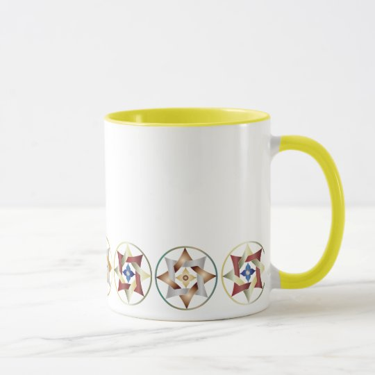 Stars in Circles Matching Set - Ringer Mug - 6