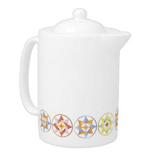 Stars in Circles Matching Set - Teapot - 1