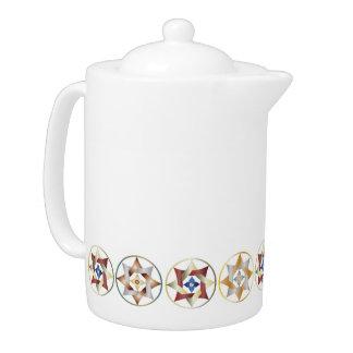 Stars in Circles Matching Set - Teapot - 2