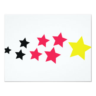 stars in german colours icon card