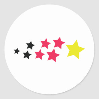stars in german colours icon round stickers