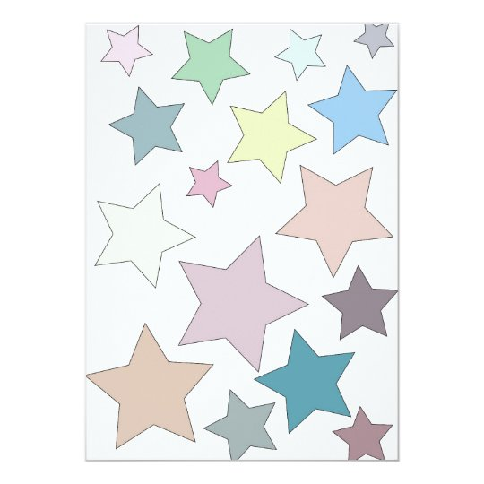 Stars in Muted Colours Invitation