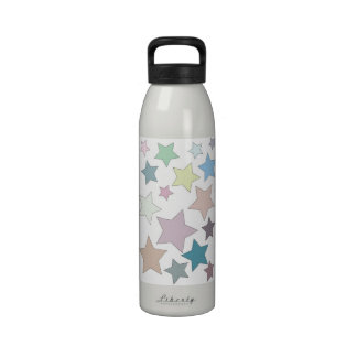 Stars in Muted Colours Liberty Water Bottle