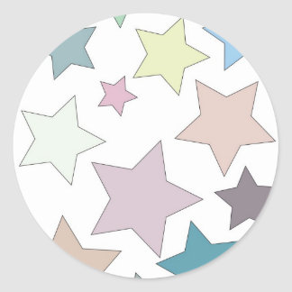 Stars in Muted Colours Stickers