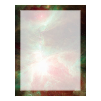 Stars in Orion Nebula Space Letterhead
