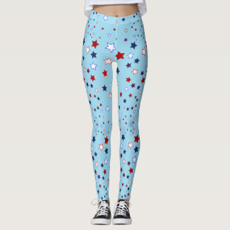 Stars in Red, White And Blue Leggings