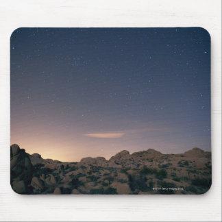 Stars in sky over desert 4 mouse pad