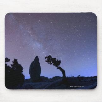 Stars in sky over desert mouse pad