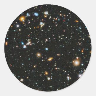 Stars in Space - Hubble Ultra Deep Field Classic Round Sticker