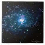 Stars in Space Large Square Tile