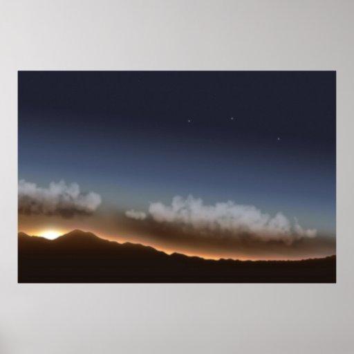 Stars in Sunset Poster