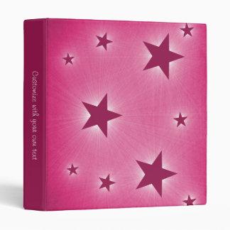 Stars in the Night Sky Binder, Magenta (1 inch) 3 Ring Binder