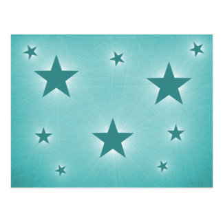 Stars in the Night Sky Postcard, Teal Postcard