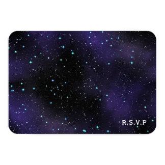 Stars in the Night Sky RSVP Wedding Response Card