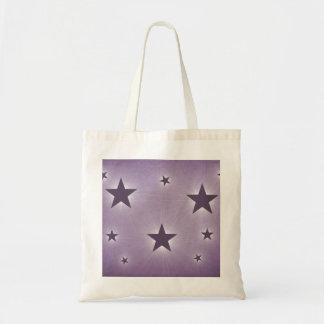 Stars in the Night Sky Tote Bag, Purple