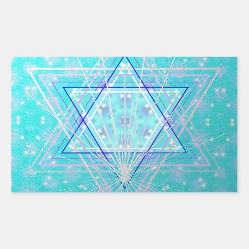 Stars in the stars. rectangular sticker