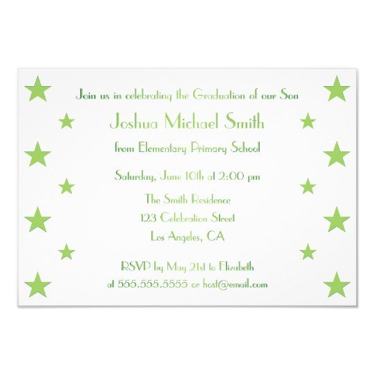 Stars kids custom graduation party invitation card zazzle stars kids custom graduation party invitation card filmwisefo