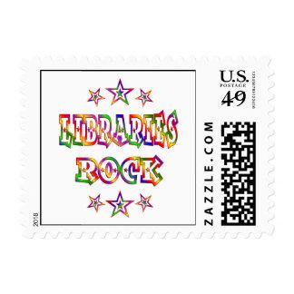 Stars Libraries Rock Postage Stamp