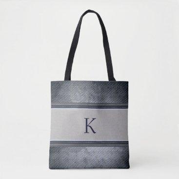 USA Themed Stars Monogram Tote Bag