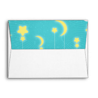 Stars Moon & Clouds Baby Shower Envelopes