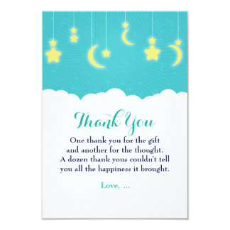 Stars Moon & Clouds Baby Shower Thank you card