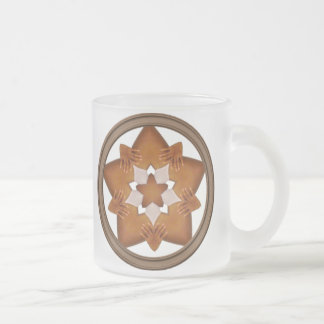 Stars N Hands Frosted Glass Coffee Mug