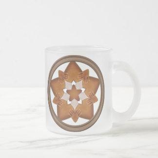 Stars N Hands 10 Oz Frosted Glass Coffee Mug