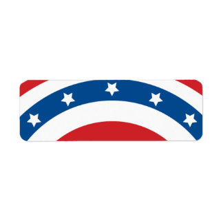 Stars n Stripes 04 - Small Rectangle Label