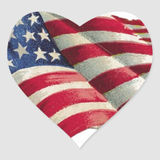 Stars N Stripes Heart Sticker