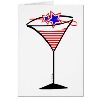 july 4th Martini Greeting Card