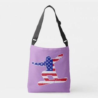 Stars 'n' Stripes SNOWBOARDER (wht) Crossbody Bag