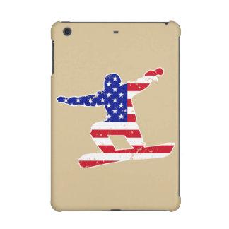 Stars 'n' Stripes SNOWBOARDER (wht) iPad Mini Covers