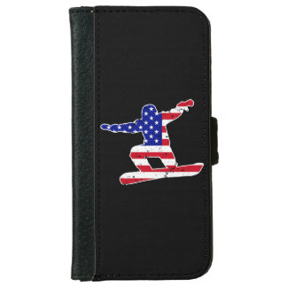Stars 'n' Stripes SNOWBOARDER (wht) iPhone 6/6s Wallet Case