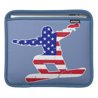 Stars 'n' Stripes SNOWBOARDER (wht) Sleeve For iPads