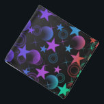 "Stars 'n Stuff Pattern Bandana<br><div class=""desc"">*Customize with your text.</div>"