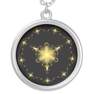 Stars Round Pendant Necklace
