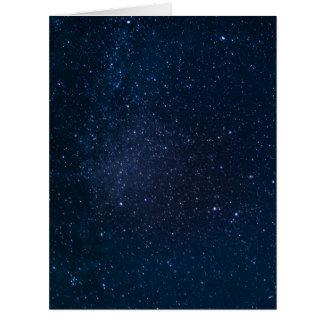 Stars night sky card